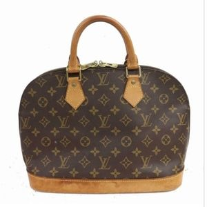 100% Authentic Louis Vuitton Hand Bag Alma Browns